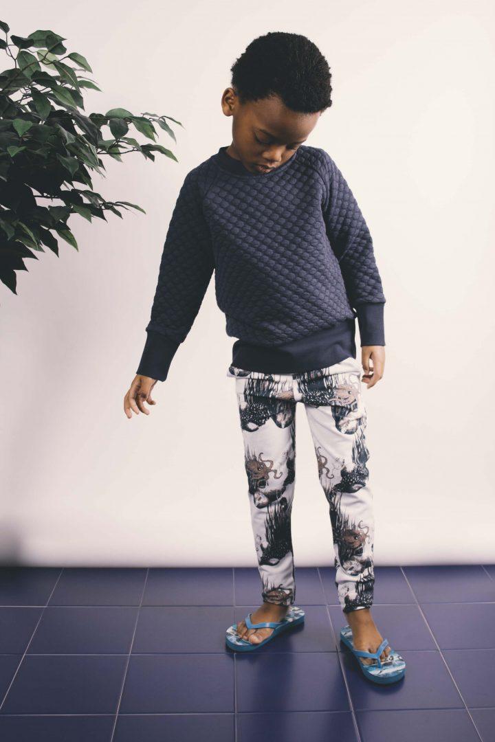 scuba carrot pants + bubble sweater