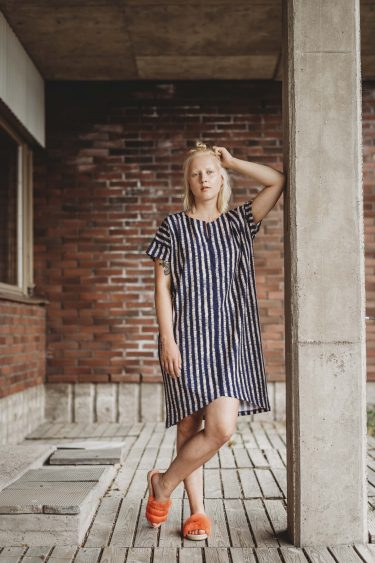 Char dress, Spectrum blue | Aarrelabel